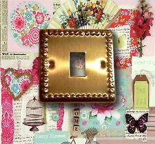Vintage Brass Switch Cover 9 x 9 cm New Free Postage