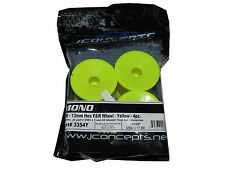"JConcepts 3354Y Mono 2.2"" 12mm 2wd Stadium Truck Wheels YELLOW (4) NIB T5M T4.2"