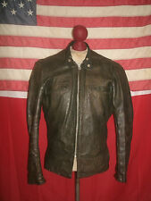 Vintage Rare!  50's-60's  Cafe Racer Motorcycle Leather Jacket . Size 36 . TALON
