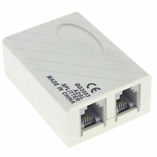 ADSL Telephone Fax RJ11 Modem Broadband Phone Line Filter Splitter Adapter