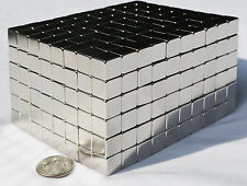 "50 MAGNETS 5mm X 5mm (3/16"") cubes strongest possible N52 Neodymium - US SELLER"