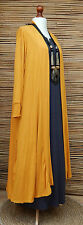 LAGENLOOK AMAZING BOHO SOFT LONG CARDIGAN/COAT*MUSTARD* SIZE XXL BUST 46-48""