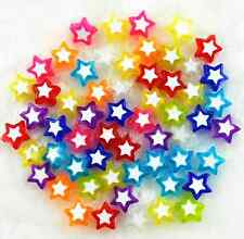 Candy Color Acrylic Star Shape Spacer Beads Jewelry Making 150Pcs 9mm