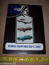 1970s Ford Mustang V8 Continental Fairmont Vintage USA Car for UK Brochure