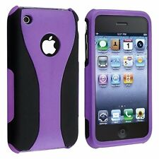 Rubberized Hard Snap-on Cup Shape Case for iPhone 3G / 3GS - Purple/Black