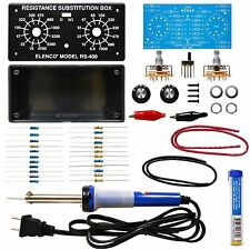 Elenco K-37SLD Resistor Substitution Box Soldering Kit with Soldering iron