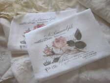 ~ JOURNAL De PARIS Roses Tea Towel FRENCH Chic ~ Gift~