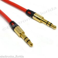 3.5mm  Male Stereo Audio Auxiliary Cable Golden Plug for PC iPod Car Phone b236