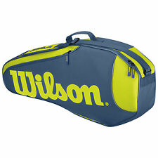 Wilson burn rush team pack 3 tennis sac ltd edition bleu/jaune