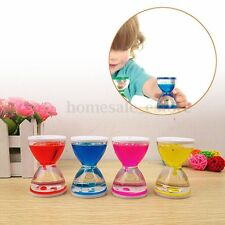 Colourful Liquid Sensory Tube Comfort Motion Visual Timer Hourglass Decor Goblet