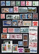 SWEDEN 1900's-1980's COLLECTION OF 87 MINT NH & 55 USED MOSTLY CLASSICS