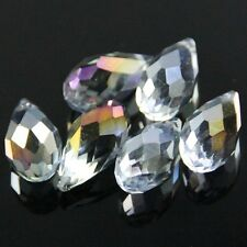 4pcs 10X20mm Swarovski Teardrop  crystal beads A blue plated