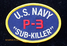 P-3 ORION SUB KILLER US NAVY HAT PATCH P 3 VP ANTI-SUBMARINE PIN UP MAD BOOM NAS
