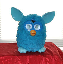 FURBY BOOM 2012 FLUFFY BLUE INTERACTIVE HASBRO TOY CLEAN WORKS GREAT