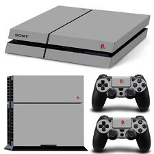 RETRO PS4 PLAYSTATION CONSOLE WITH 2 CONTROLLER DECAL SKIN STICKER SHIP USA #25