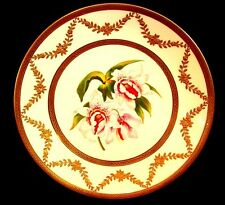 "LIMOGES CABINET PLATE *ORCHIDS ""STANHOPEA MARTIANA"" SIGNED SCHOPP c.1880"