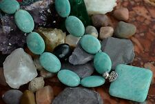 """Gorgeous 925 Solid Sterling Silver Blue Aventurine Stone 18 - 20"""" Necklace"""