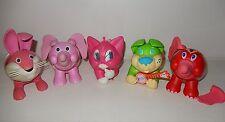 LOT de 5 boite jouet animaux KINDER CIRCUS vintage années 90 LAPIN ELEPHANT