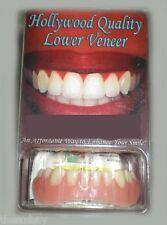 SECURE INSTANT SMILE False Fake Cosmetic Dentures Veneer Costume LOWER TEETH