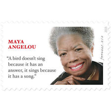 USPS New Maya Angelou Forever Stamp Sheet of 12
