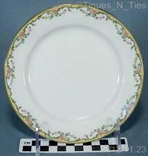 Antique Vignaud Limoges France THE MEUSE Pink Flowers Bread Butter Plate  (FF)