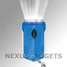 Emergency Survival Tri-LED Dynamo Hand-Crank Rechargeable Flashlight