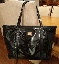 Dolce and Gabbana Miss Escape Black Patent Tote Bag Shopper EUC