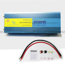 LCD display 2500W Pure Sine Wave Power Inverter 5000W Peak 12v DC to 240v AC