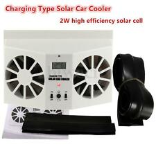 Car Window Built-in Battery Rechargeable Air Vent Cool Sun Solar Car Cooler Fan
