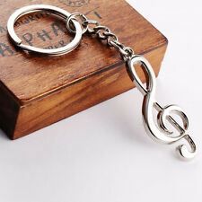 1pc Exquisite Music Symbol Metal Keychain Ring Keyring Key Fob Funny Xmas