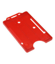 Red Vertical Double Sided ID Card  Badge Holder Holds - Buy 2 get 3!