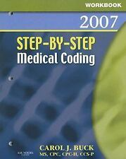 Workbook for Step-by-Step Medical Coding 2007 Edition, 1e - Acceptable - Buck MS