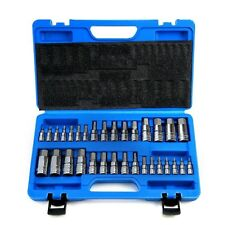 32 PC MASTER ALLEN WRENCH BIT KIT HEX KEY FOR RATCHET SOCKET TOOL SAE METRI