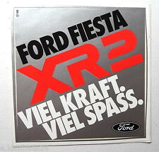 Aufkleber FORD FIESTA XR2 Sticker 80er Autocollant Decal Youngtimer