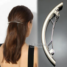 "Catwalk 4.5"" Curved Bar French Updo Hair Pin Clip Dress Snap Barrette Brooch"