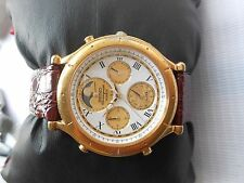 Used Seiko Age of Discovery 7T36 -7A10 Moonphase Alarm Mens Chronograph Watch
