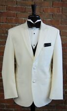 MENS 42 L IVORY SLIM FIT DINNER JACKET  TUXEDO RIO by PERRY ELLIS