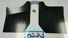 YAMAHA RHINO DIAMOND PLATE BLACK FLOOR BOARDS.. 2004 up POWDER COATED