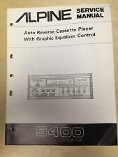 Alpine Service Manual for the 5400 Cassette Player Graphic Equalizer