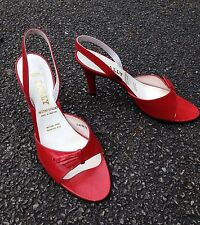 """Ladies Shoes. Heels, BALLY.  UK 6.5 Leather, Red, Design """" Garbo"""""""