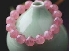 AAA 10mm Natural Madagascar Rose Quartz Crystal Round Beads Bracelet