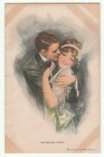 Harrison Fisher Glamour Postcard Gathering Honey 392 Reinthal & Newman Vintage