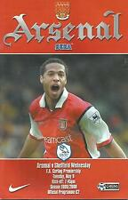 Arsenal v Sheffield Wednesday - Premiership - 9/5/2000 - Football Programme