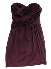 Express Purple Sweetheart Neckline Rouch Cross Over Tube Dress Sz XS Sleeveless