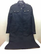 NEW Barbour Black Wool and Cashmere Long Zipper Coat Women's Size 10