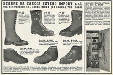 W3914 Scarpe e Armadio da Caccia - Pubblicità 1968 - Advertising