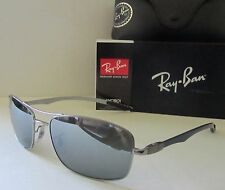 RAY BAN gunmetal/silver POLARIZED RB8309 004/82 59 CARBON FIBER TECH sunglasses