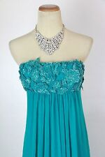New Genuine Jovani 25326 Strapless Teal Evening Women Gown Dress Prom Party 0