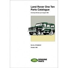 Land Rover One Ten Parts Catalogue book paper