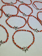 WHOLESALE LOT 12 NEW COLORFUL BEADED STARFISH STRETCH BRACELETS   GIFTS * RESELL